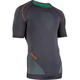 UYN Multisport Evolutyon UW SS Shirt Herr charcoal/green/orange shiny